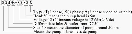 DC50B Brushless Dc Pump Series Mode note